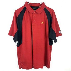 NEW Vintage Official McDonald's Employee Red Polo